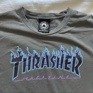 Trasher Magazine Graphic Flames Short Sleeve Tee